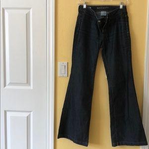 Banana Republic Dark Wash Flare Jeans Like New